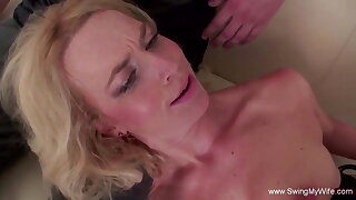 Interracial BBC For Blonde Swinger Spliced With Other Man