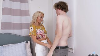 Hot stepmom has always enjoyed being a MILF and she fucks equal to a pro