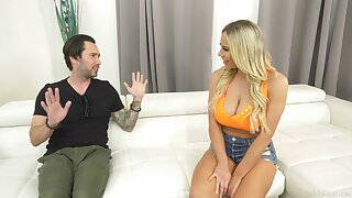 Spacious boobs mature Olivia Austin moans by means of hardcore fucking