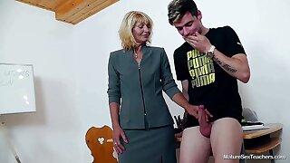 Older Teacher Ivona Plus Teen Thick-Dicker