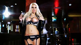 Blonde cougar lets horny male do whatever he pleases with her