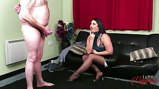 Perverse motion picture of a fat dude paroxysmal off for naughty chick Nicola Kiss