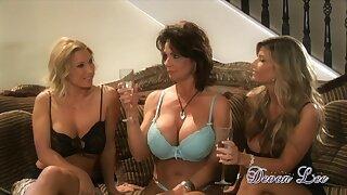 Amazing lesbian fix it copulation party with seductive pornstar Devon Lee