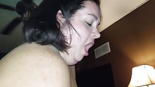 I start off with a handjob, take hubbies cock in my mouth and get so horny I squirt multiple times all over his dick.