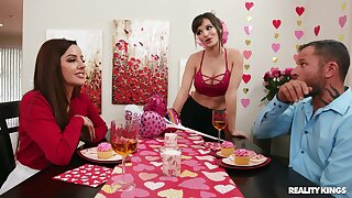 MILF wife Lexi Luna suffered oved provocative Vanna Bardot for a 3-way