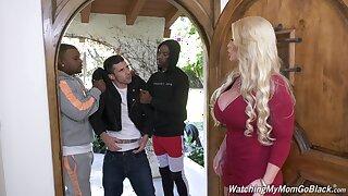 Killing hot white mommy Alura Jenson goes Stygian speed her stepson