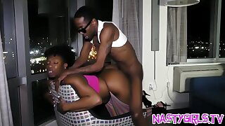 X-rated ebony pounded